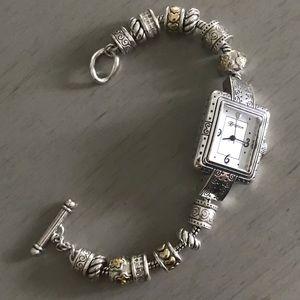 "NWOT Brighton ""Cherry Hill"" Charm Bracelet Watch"